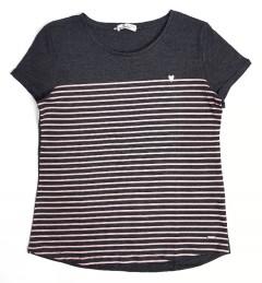 TOM TAILOR Ladies T-Shirt (GRAY - PINK) (S - M - L - XL)