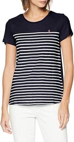 TOM TAILOR Ladies T-Shirt (NAVY - WHITE) (S - M - L - XL - XXL)
