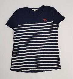 TOM TAILOR Ladies T-Shirt (NAVY - WHITE) (XS - M - L)