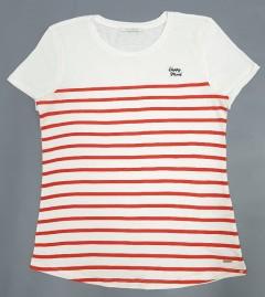 TOM TAILOR Ladies T-Shirt (RED - WHITE) (XS - M - L)