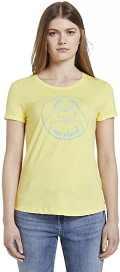 TOM TAILOR Ladies T-Shirt (YELLOW) (S - M - L - XL - 2XL)