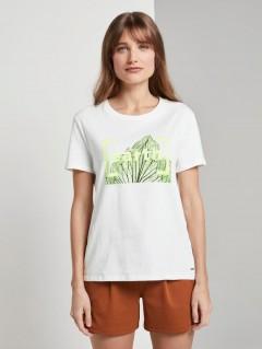 TOM TAILOR Ladies T-Shirt (WHITE) (S - M - L - XL - XXL)