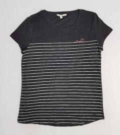 TOM TAILOR Ladies T-Shirt (DARK GRAY) (S - XL)