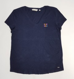 TOM TAILOR Ladies T-Shirt (NAVY) (M - L)