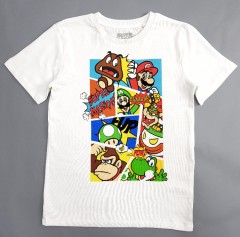 SUPER MARIO Boys T_Shirt (WHITE) (5 to 8 Years)