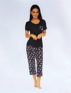 STYLEE LIFE Ladies 2 Pcs Pyjama Set (NAVY - OLIVE) (S - M - L - XL)