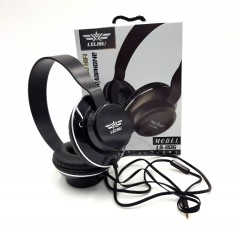 LELISU Wired Headphone with Mic/ LS-806 (BLACK) (ONE SIZE) (FRH)