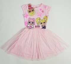 LOL Girls Frock (PINK) (5 To 10 Years)