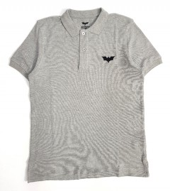 BATMAN Mens Polo Shirt (GRAY) (S - M - L - XL - XXL)