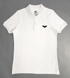 BATMAN Mens Polo Shirt (WHITE) (S - M - L - XL - XXL)