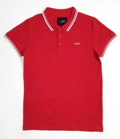DAVYSON Mens Polo Shirt  (RED) (S - M - L - XL - XXL)
