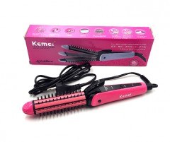 KEMEI KM-6855 Multifunction Hair Stick Curler Rollers And Straightener (FRH)