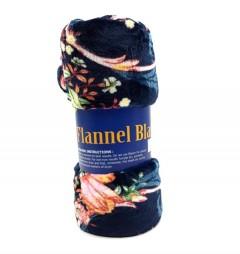 FLANNEL BLANKET (NAVY) (150X200CM)