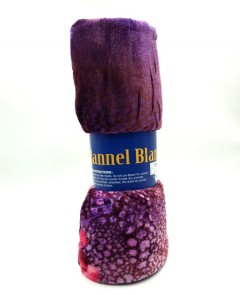 FLANNEL BLANKET (PURPLE) (150X200CM)