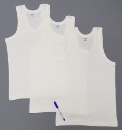 COMFORT AUTHENTIC Mens Vest 3 Pce Set (WHITE) ( M - XL - XXL)