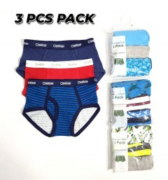 OSHKOSH 3 Pcs Boys Boxer Shorts Pack ( Random Color) (4 to 14 Years)