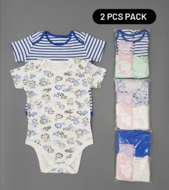 COOL CLUB Kids 2 Pcs pack Romper (RANDOM COLOR) (1 to 36 Months)