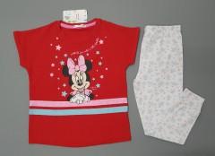 MINI CLUB BABY Girls 2 Pcs Pyjama Set (RED - WHITE) (2 to 5 Years)