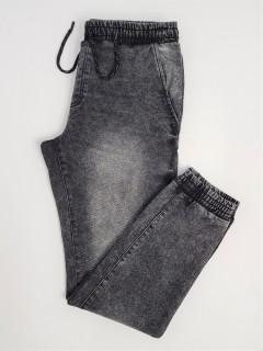 LIVERGY Mens Denim Jogger Pants (DARK GRAY) (46 to 56 EUR)