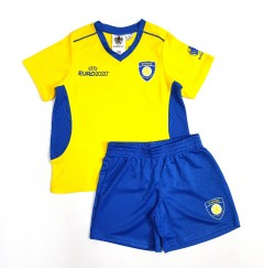 UEFA EURO 2020 Boys 2 Pcs Shorty Set (YELLOW-BLUE) (4 To 14 Years)