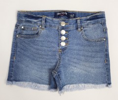 BLUE CANDY Girls Jeans Short (BLUE) (8 to 14 Years)