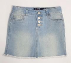 BLUE CANDY Ladies Jeans Skirt (BLUE) (S - M - L - XL)