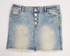 BLUE CANDY Ladies Jeans Skirt (BLUE) (L)