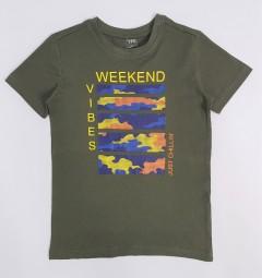 YFK Boys T-Shirt (DARK GREEN) (7 to 14 Years)
