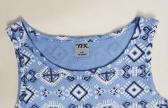 YFk Girls Dress (BLUE) (7 to 14 Years)