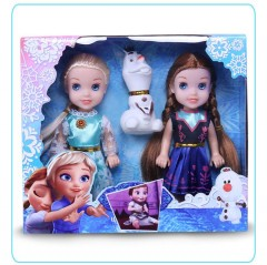 3 pcs/set Princess frozen 2 Anna Elsa Dolls with box For Girls Toys Princess (NAVY - LIGHT BLUE) (ONE SIZE)