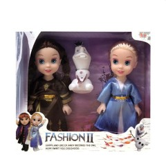 3 pcs/set Princess frozen 2 Anna Elsa Dolls with box For Girls Toys Princess (BROWN - BLUE) (ONE SIZE)