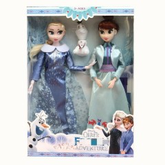 3 pcs/set Princess frozen 2 Anna Elsa Dolls with box For Girls Toys Princess (LIGHT BLUE - BLUE) (ONE SIZE)