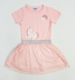 PEBBLES Girls Frocks (PINK) (1 to 8 Years)