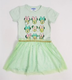 PEBBLES Girls Frocks (LIGHT GREEN) (1 to 8 Years)