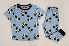 NEXT Boys 2 Pcs Pyjama Set (LIGHT BLUE - BLACK) (2 to 10 Years)