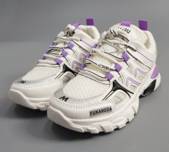 FAMOUSE Ladies Shoes (WHITE - PURPLE) ( 36 to 40)
