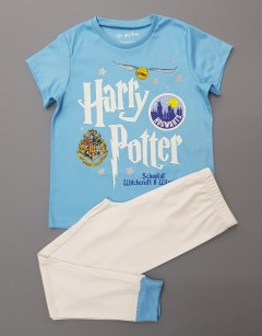 HARRY POTTER Boys 2 Pcs Pyjama Set (BLUE - WHITE) (5 to 13 Years)