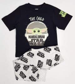 STARWARS Boys 2 Pcs Pyjama Set ( LIGHTGRAY - BLACK (4 to 13 Years)