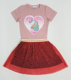 M AND S Girls Frocks (PINK - RED) (2 to 8 Years)