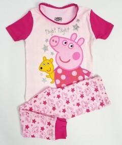 PEPPAPIG Girls 2 Pcs Pyjama Set (PINK - RED) (2 to 8 Years)