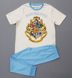 HARRY POTTER Boys 2 Pcs Pyjama Set ( CREAM - LIGHT BLUE) (6 to 14 Years)