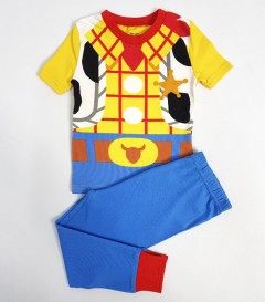 DISNEY Boys 2 Pcs Pyjama Set ( BLUE -YELLOW) (12 Month to 8Years)