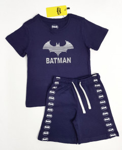 BATMAN Boys 2 Pcs Shorty (NAVY)(2 to 10 Years)