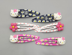 6 Pcs Pack Hair Accessories (PINK - BLACK) (ONE SIZE)