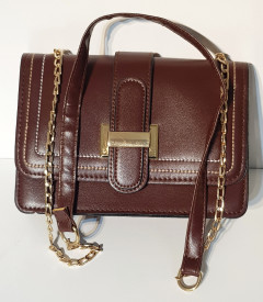 Ladies Hand Bag (DARK BROWN) (OS)