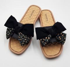 FASHION Ladies Slippers ( BLACK ) (36 to 41)