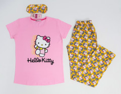 CLM HOME WEAR Ladies Turkey 3 Pcs Pyjama Set (PINK - YELLOW) (S - M - L - XL)