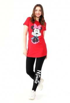 MINNIE Ladies Turkey 2 Pcs Pyjama Set (RED - BLACK) (S - M - L - XL)