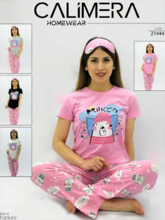 CALIMERA Ladies Turkey 3 Pcs Pyjama Set (PINK) (S - M - L - XL)