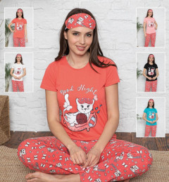 CALIMERA Ladies Turkey 3 Pcs Pyjama Set (RED) (S - M - L - XL)